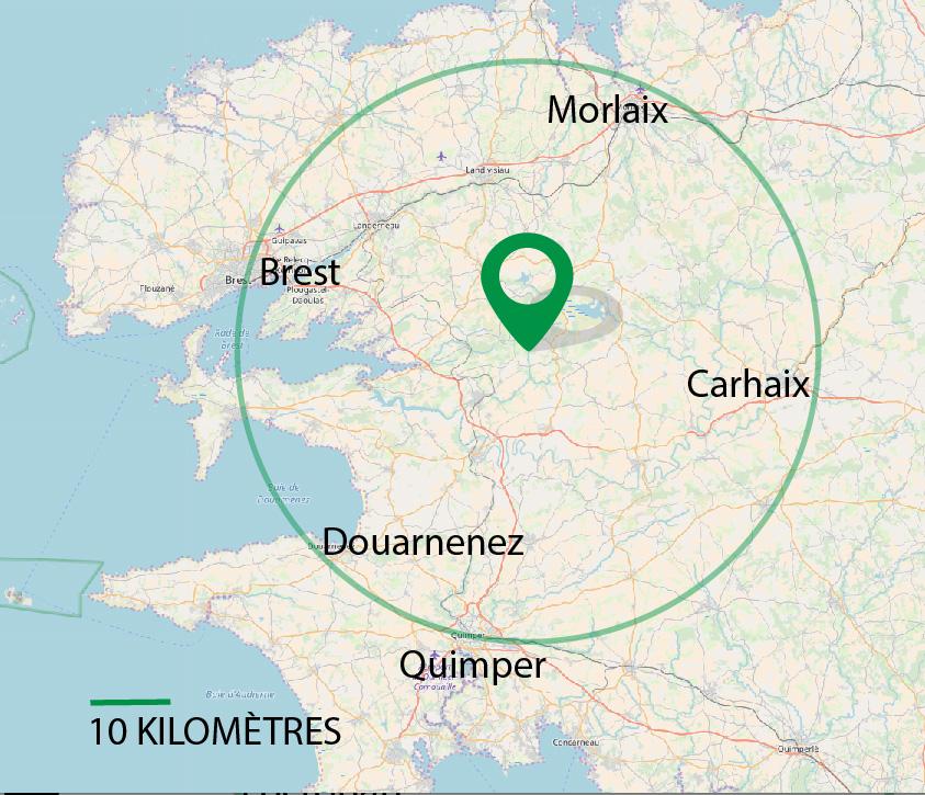 Le Finistère à 45 minutes de déplacement